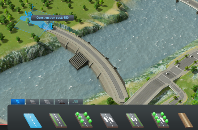 You can even build roads across dams. Hopefully someone will create a mod with the roads underwater, like MCE.